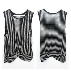 Black and White striped sleeveless top